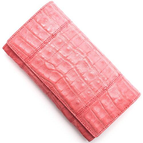 本革 Leather 長財布 クロコダイル 【CROCODILE】 ポルポラピンク R50003 POR レディース