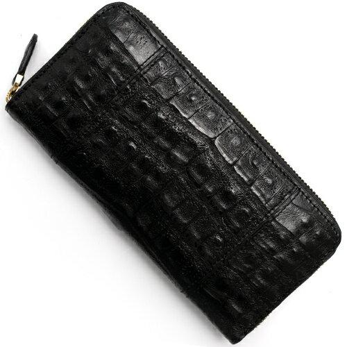 本革 Leather 長財布 クロコダイル 【CROCODILE】 ブラック R50001 メンズ レディース