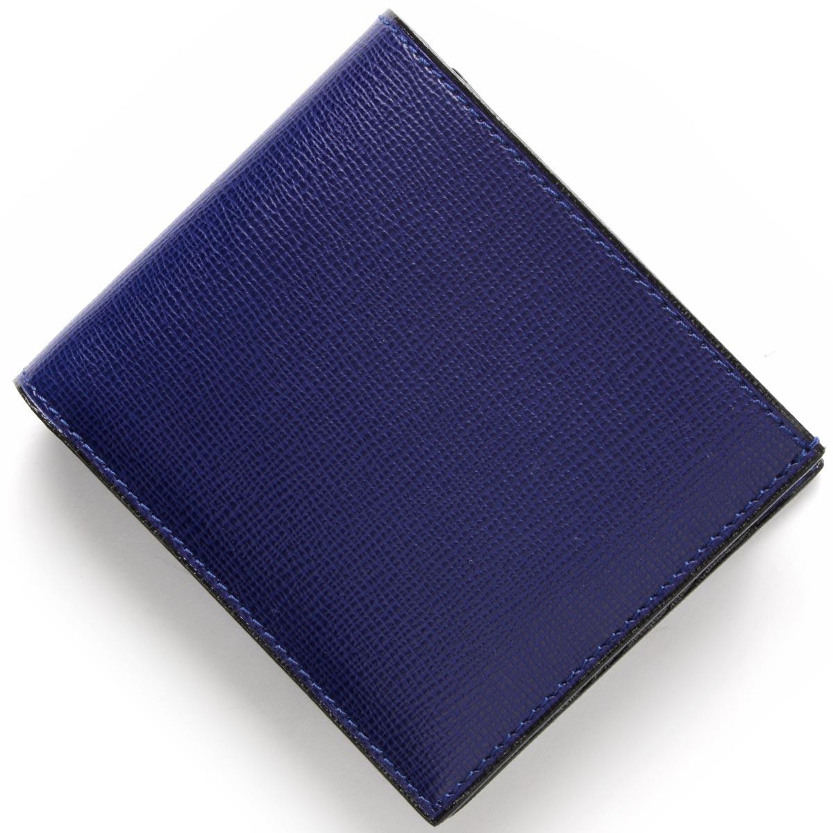 ヴァレクストラ VALEXTRA 二つ折財布 ロイヤルブルー V8L23 044 RO メンズ レディース