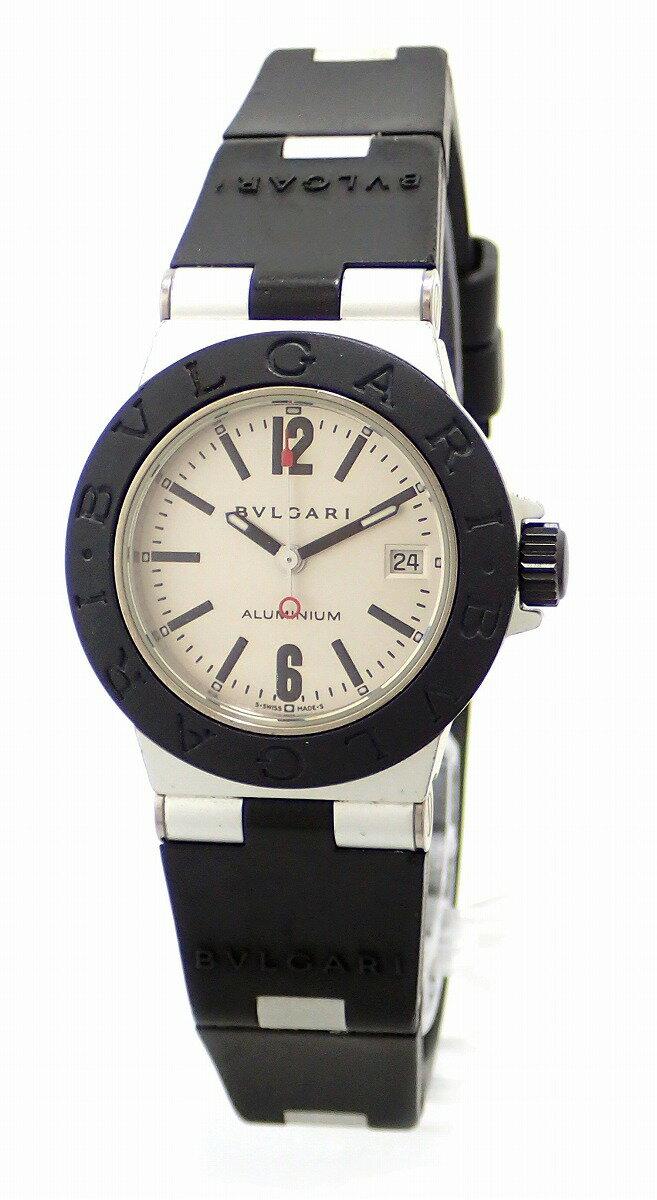 【ウォッチ】BVLGARI ブルガリ アルミニウム 29MM デイト シルバー文字盤 レディース QZ クォーツ 腕時計 AL29TA【中古】【u】【Blumin/森田質店】【質屋出店】