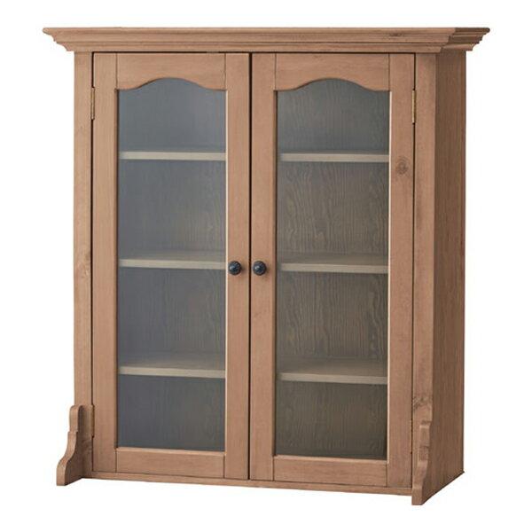 食器棚向け上置扉収納キャビネット バーニー 幅85cm高さ93cm