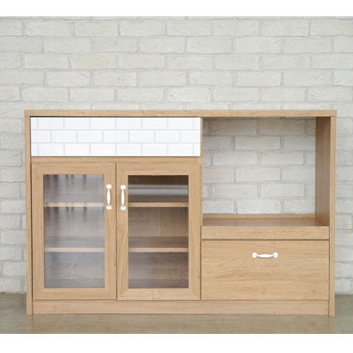 送料無料 キッチンカウンター カロ 幅120cm高さ80cm ナチュラル ga-ca-cou-120