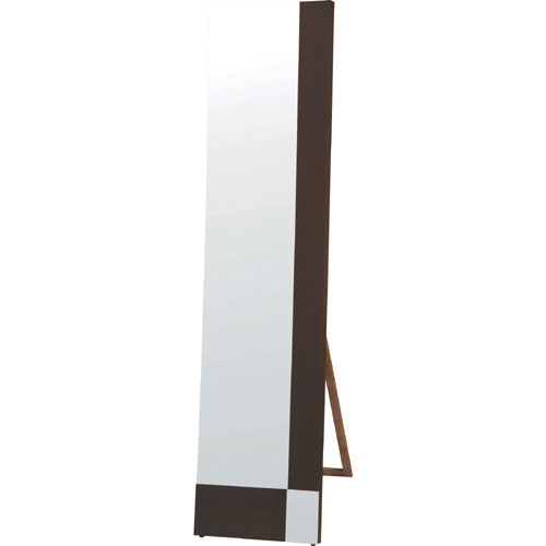 スタンドミラー(鏡) 幅40cm 吊り立て兼用 ウェンジ sed-160-we