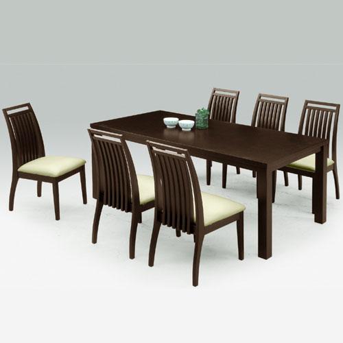 ダイニングテーブルセット 食卓セット リビングセット 木製テーブル 6人掛け ダイニング7点セット アルファ 幅180cmテーブル+チェア6脚 ナチュラル ダイニングセット 食卓テーブル リビングダイニングセット ダイニングチェア 椅子 チェア 食卓椅子 r-sk1-031-02-dbr