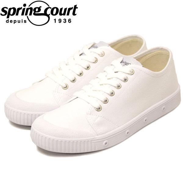 正規取扱店 spring court (スプリングコート) G2S-V1 G2 Classic Canvas (クラシックキャンバス) レディース スニーカー WHITE (ホワイト) SPC006