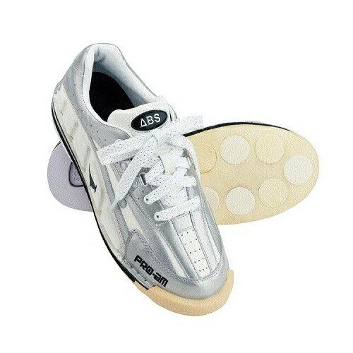 (ABS) ボウリングシューズ NV-3 ホワイト・シルバー 【ボウリング用品 靴】