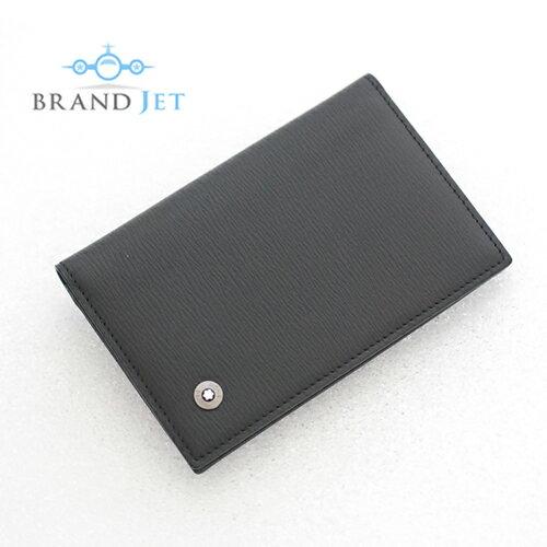 モンブラン/4810 ウェストサイド カードケース/レザー/ブラック/美��Sランク��中�】