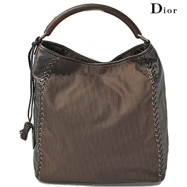 クリスチャン ディオール Christian Dior ショルダーバッグ ディオリッシモ/ブラウン【中古】