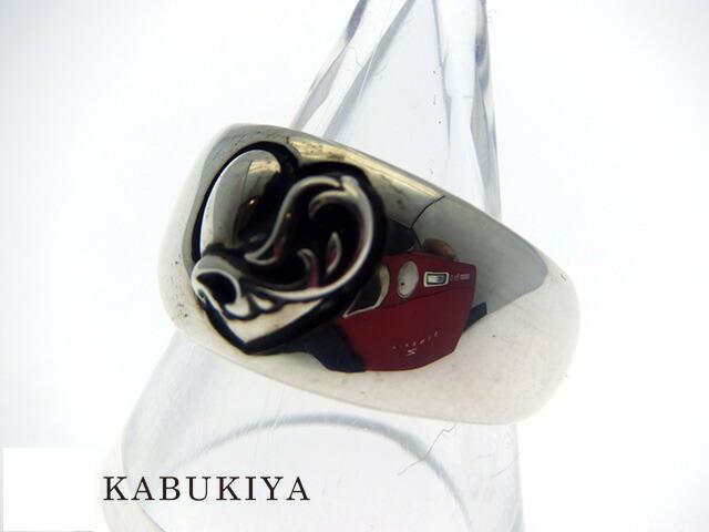 Chrome Hearts クロムハーツハートインバンドリング  SV925 シルバー 指輪 約19号メンズ・レディース 人気ブランド【中古】15-15852my