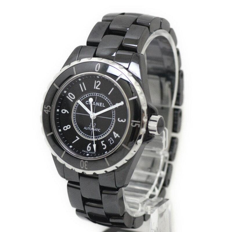 シャネル J12 38MM 腕時計 セラミック H0685【美品】