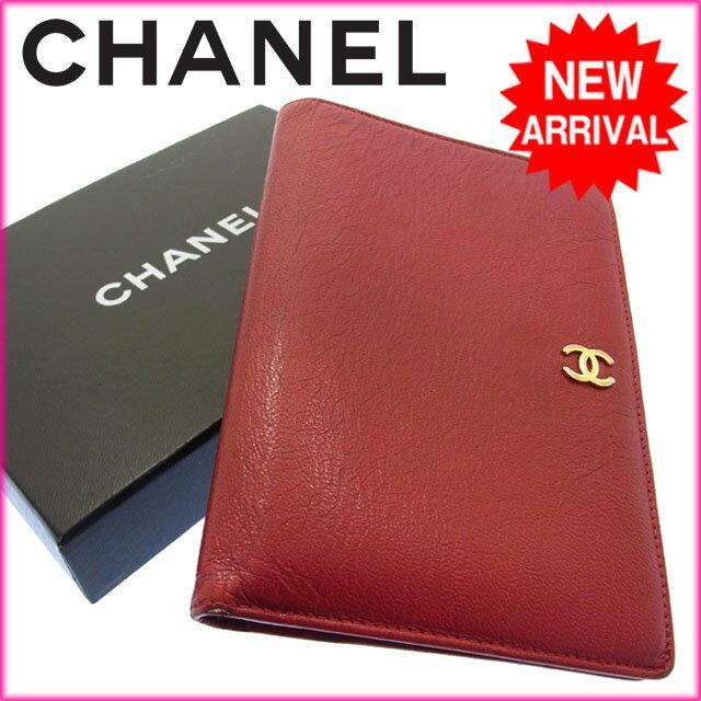 シャネル CHANEL 二つ折り財布 ココマーク 5922055 レッド レザー 【中古】 R914