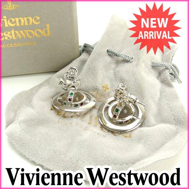 ヴィヴィアン・ウエストウッド Vivienne Westwood ピアス アクセサリー レディース シルバー 未使用品 【中古】 J7389