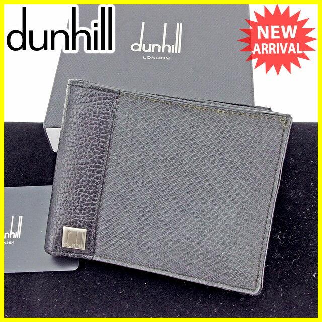 1dc6e1494590 ダンヒル 二つ折り財布 財布 Dunhill ブラックグレー 【中古】 A1621s 最新作2色