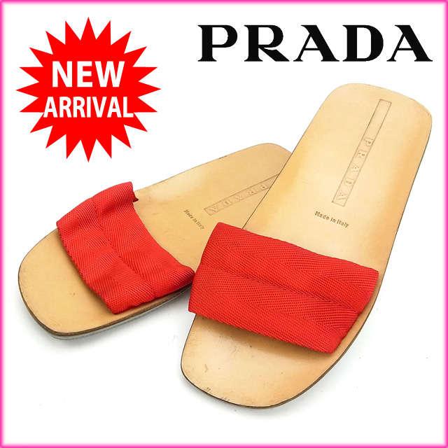 プラダ PRADA サンダル  (あす楽対応)(良品・即納)【中古】 Y151 .