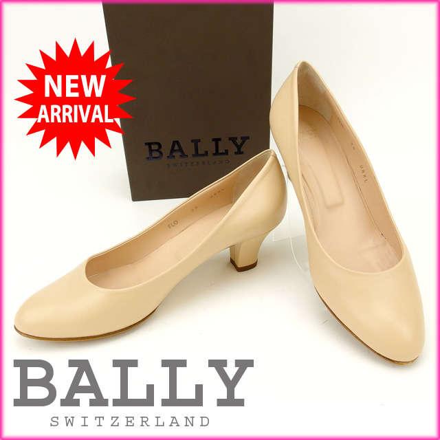 バリー BALLY パンプス #36 レディース ベージュ レザー (あす楽対応)人気 激安【中古】 Y1034