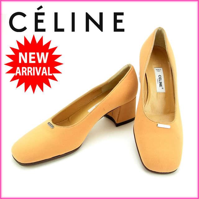 【送料無料】 セリーヌ CELINE パンプス#36 レディース 【中古】 M1039 .