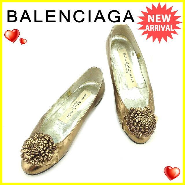 バレンシアガ Balenciaga パンプス #34 1/2 レディース   ゴールド レザー 人気 セール 【中古】 T2150