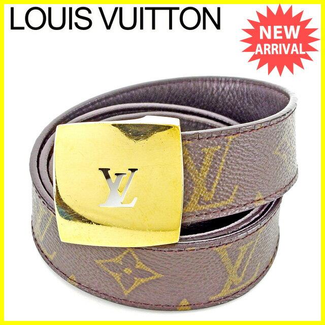 ルイ ヴィトン LOUIS VUITTON ベルト #75/30 メンズ�  モノグラム ブラウン PVC×レザー 人気 セール �中�】 T2862 .