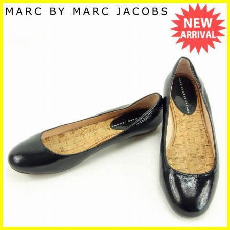 マークバイマークジェイコブス MARC BY MARC JACOBS パンプス #37 1/2 レディース ブラック パテントレザー (あす楽対応)人気 セール【中古】 Y4908 .