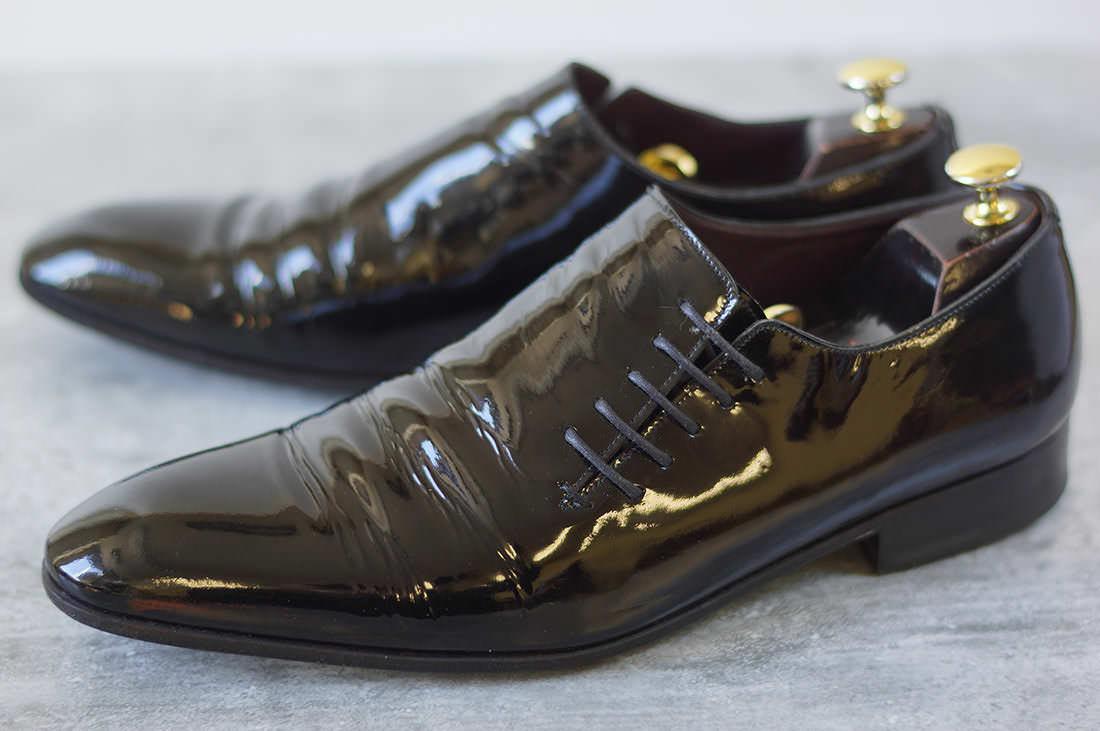 Sergio Rossi セルジオロッシ/shoe/靴 ビジネスシューズ サイドレース 【中古】【Sergio Rossi】