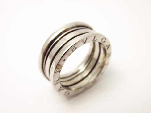 1849dd21982f 【中古】ブルガリ B-zero1 リング Mサイズ 指輪 ブランドジュエリー ユニセックス K18WG(750) ホワイトゴールド シルバー  (201802) | 送料無料 レディース ...