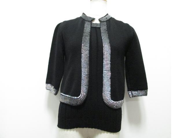CHANEL(シャネル)/アンサンブル/衣類/ブラック x メタル/ウール x スパンコール/【ランクB】(99A)[BRANDOFF/ブランドオフ]【中古】