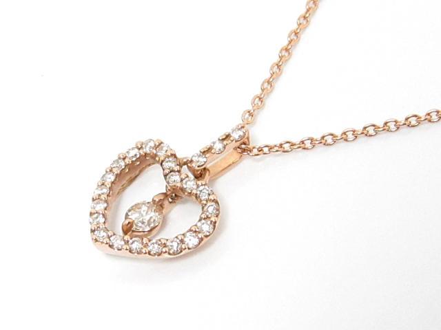 JEWELRY(ジュエリー)/ダイヤモンドネックレス/ネックレス/K18PG(750) ピンクゴールドxダイヤモンド(0.18ct)/【ランクA】[BRANDOFF/ブランドオフ]【中古】