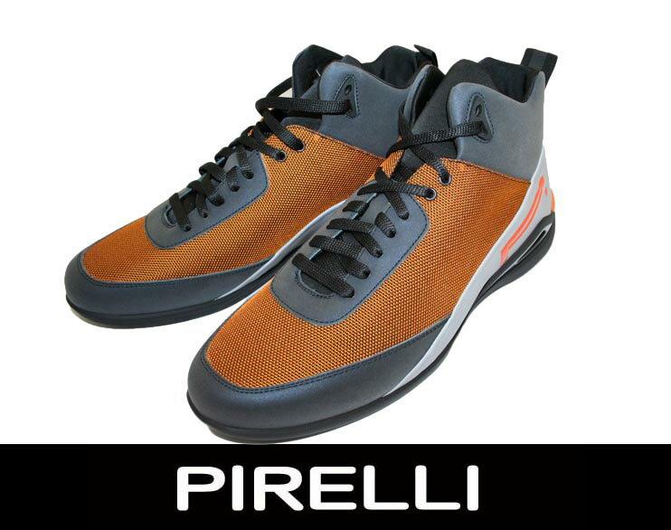 PIRELLI【ピレリ】 2014秋冬新作! メンズ ハイカット ナイロン素材 スニーカー オレンジ