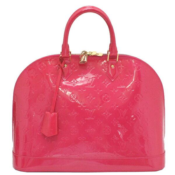 美品 LOUIS VUITTON ルイヴィトン ヴェルニ アルマGM ローズポップ(ピンク)  ハンドバッグ M93625【中古】