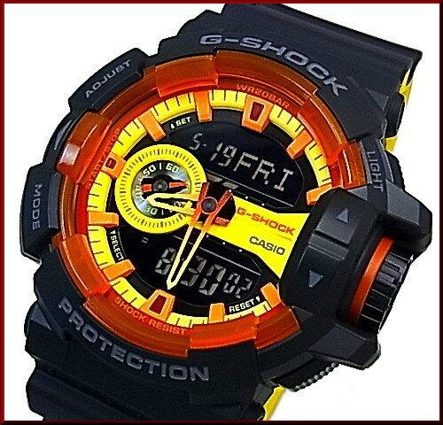 CASIO/G-SHOCK【カシオ/Gショック】スポーティミックス ブラック/イエロー アナデジ メンズ腕時計(国内正規品)GA-400BY-1AJF