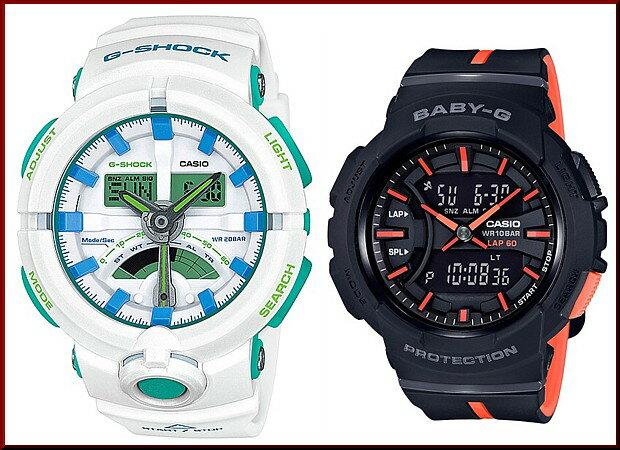 CASIO/G-SHOCK/Baby-G【カシオ/Gショック/ベビーG】ペアウォッチ アナデジ 腕時計 ホワイト/ブラック(国内正規品)GA-500WG-7AJF/BGA-240L-1AJF