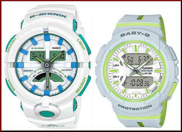 CASIO/G-SHOCK/Baby-G【カシオ/Gショック/ベビーG】ペアウォッチ アナデジ 腕時計 ホワイト/グレー(国内正規品)GA-500WG-7AJF/BGA-240L-7AJF