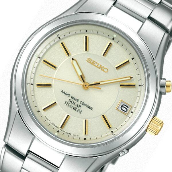 ��料無料】セイコー SEIKO スピリット ソーラー メンズ 腕時計 SBTM199 アイボリー 国内正�