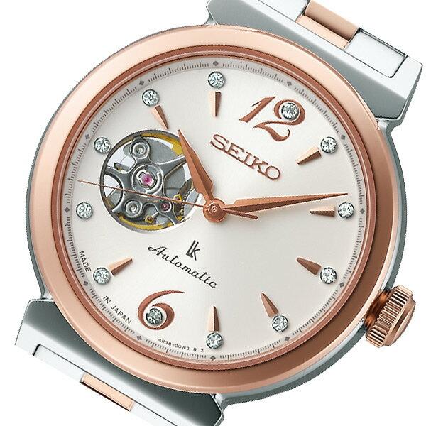 【送料無料】セイコー SEIKO ルキア 自動巻き レディース 腕時計 SSVM010 アイボリー 国内正規