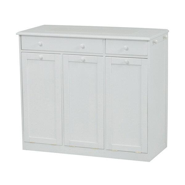 【送料無料】ダストボックス ゴミ箱 MUD-6259WH 4934257218917 ホワイト 代引き不可