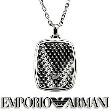 エンポリオ アルマーニ ネックレス EMPORIO ARMANI イーグルロゴ プレート ペンダント EGS2137040  ステンレスネックレス