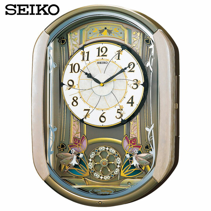 【送料無料】【電波時計 置時計】からくり時計【時計 ウォッチ】セイコー RE567G 【TC】【HD】