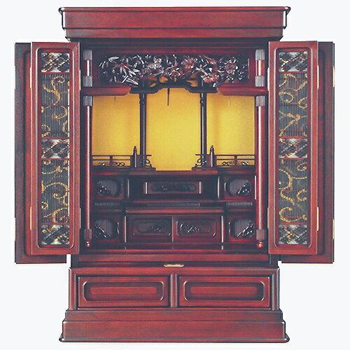 仏壇 上置型金仏壇 元光 28-18 高855×巾600×奥行480×須弥壇上320mm