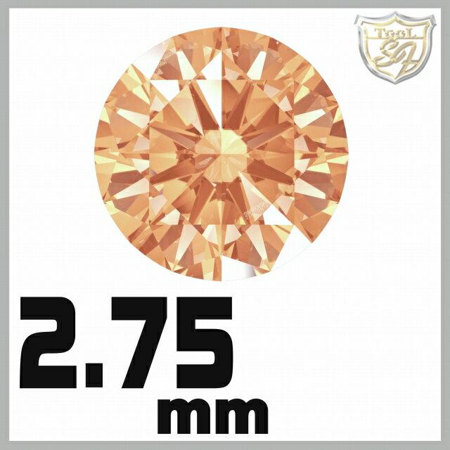 スワロフスキー ストーン ジルコニア ルース  <アンバー / 2.75mm×200粒入★お得パック>  SWAROVSKI スワロ ビーズ パーツ 裸石 材料 【5P03Dec16】
