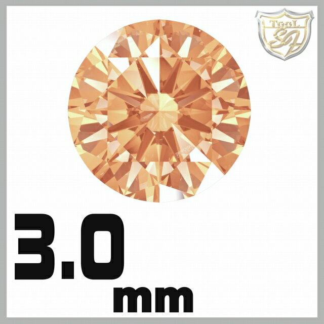 スワロフスキー ストーン ジルコニア ルース  <アンバー / 3mm×100粒入>【 メール便 】  SWAROVSKI スワロ ビーズ パーツ 裸石 材料 【5P03Dec16】