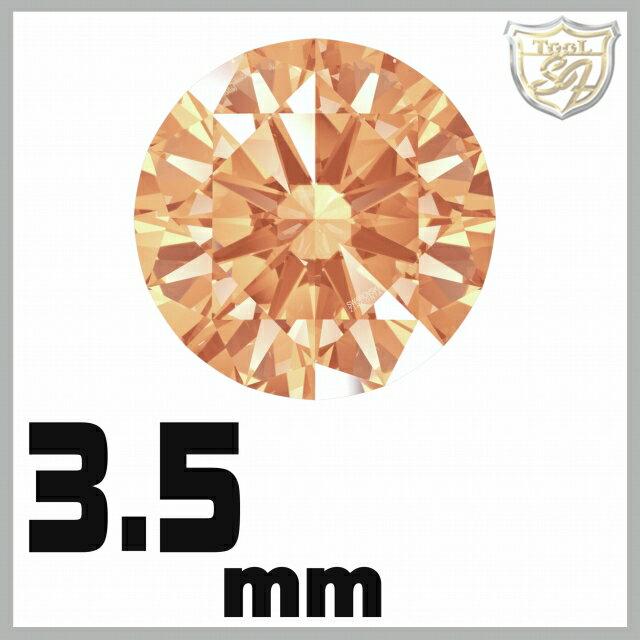 スワロフスキー ストーン ジルコニア ルース  <アンバー / 3.5mm×140粒入★お得パック>  SWAROVSKI スワロ ビーズ パーツ 裸石 材料 【5P03Dec16】