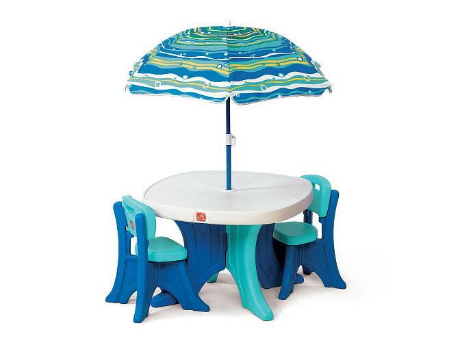 STEP2 ステップツー プレイ&シェイド パティオセット Play & Shade Patio Table Set
