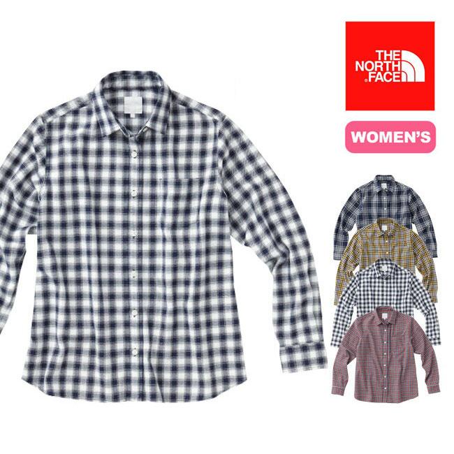 <残りわずか!>【40%OFF】THE NORTH FACEノースフェイス L/S オラリーシャツ【ウィメンズ】 【送料無料】 【正規品】チェックロングシャツ 吸汗性 保温性 アウトドア トレッキング 14000