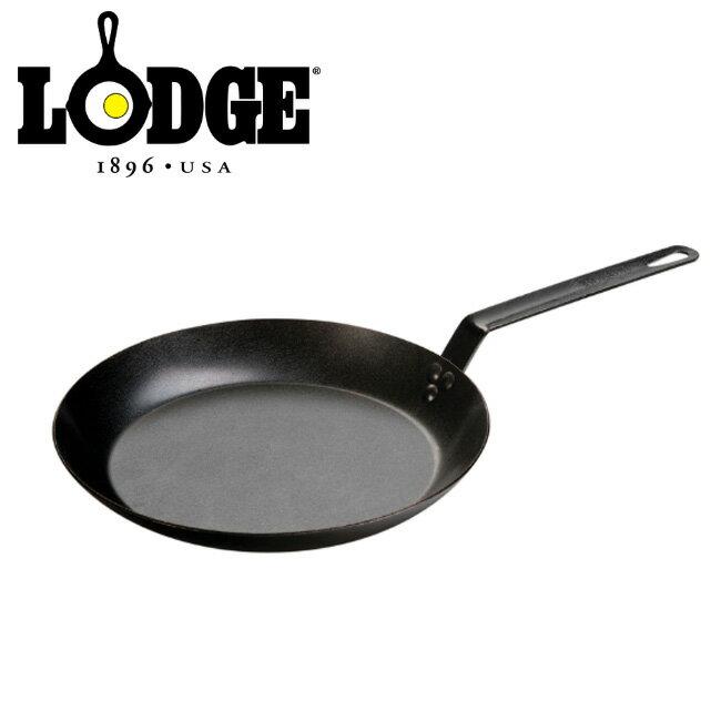 LODGE ロッジ シーズンスチールスキレット 12インチ【送料無料】【CRS12】|アウトドア|キャンプ|料理|鍋|フライパン|鋳鉄|IH対応