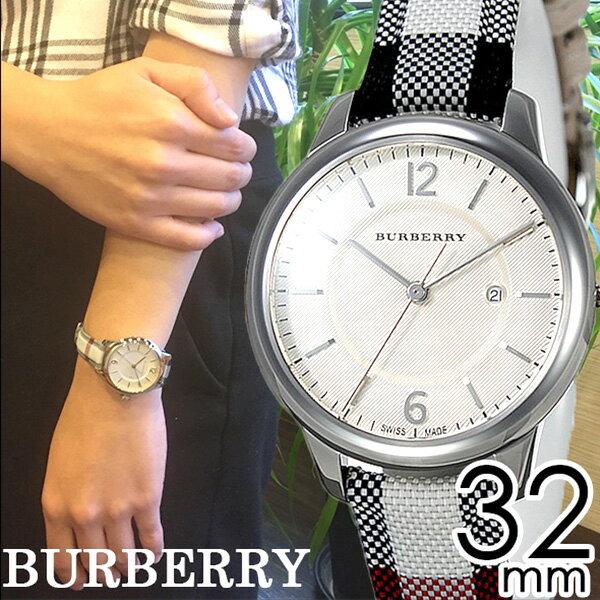 バーバリー 腕時計 レディース 女性 [BURBERRY] 時計 ベージュ/BU10103 [おすすめ/ブランド/プレゼント/ギフト/オシャレ/レザー/革/キャンバス/ホワイト/シルバー/チェック柄][おしゃれ 腕時計][新生活 入学 卒業 社会人]