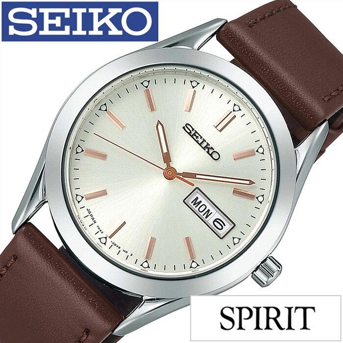セイコー腕時計 SEIKO時計 SEIKO 腕時計 セイコー 時計 スピリット SPIRIT メンズ/ホワイト SCEC021 [アナログ 流通限定モデル 7N43 ブラウン][プレゼント・ギフト][おしゃれ 腕時計][新生活 入学 卒業 社会人]