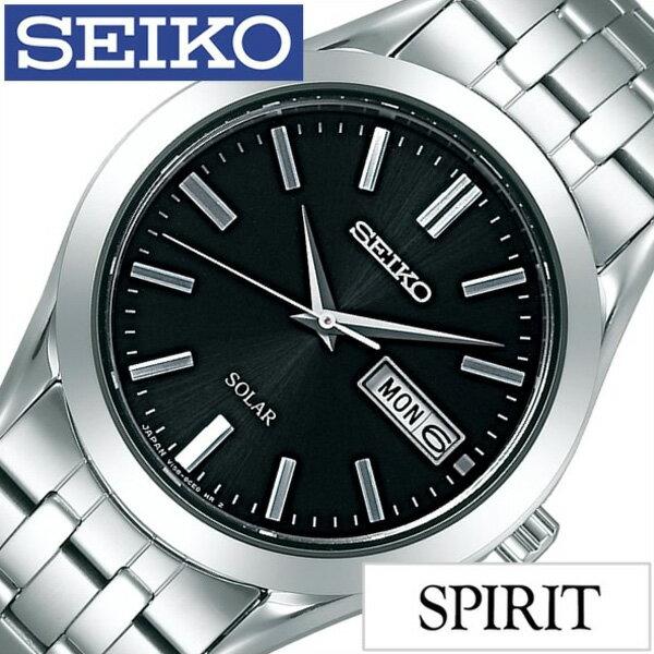 [30%OFF]セイコー腕時計 SEIKO時計 SEIKO 腕時計 セイコー 時計 スピリット SPIRIT メンズ/ブラック SBPX083 [メタル ベルト/正規品/ソーラー/防水/ペア モデル/シルバー/シンプル][ギフト/プレゼント/ご褒美][おしゃれ 腕時計][新生活 入学 卒業 社会人]