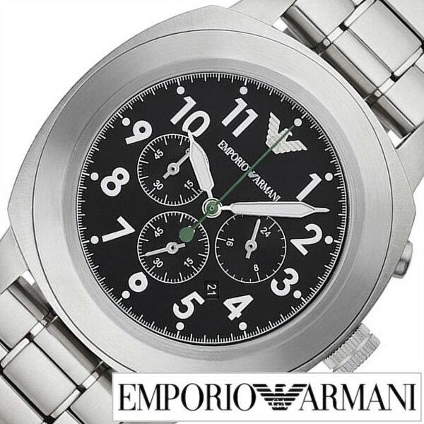 エンポリオアルマーニ 腕時計[ARMANI 時計]エンポリオ アルマーニ 時計[EMPORIO ARMANI 腕時計]アルマーニ時計/アルマーニ腕時計/スポルティーボ SPORTIVO メンズ/ブラック AR6056 [エンポリ/EA/新作/人気/防水/ステンレス ベルト/シルバー]