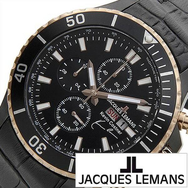 ジャックルマン 腕時計[JACQUESLEMANS 時計]ジャック ルマン 時計[JACQUES LEMANS 腕時計] ケビン コスナー コレクション KEVIN COSTNER COLLECTION JAL11-1787-1 [ブランド/革 ベルト/レザー/ピンク ゴールド/日本 限定][プレゼント・ギフト][おしゃれ 腕時計][新生活]