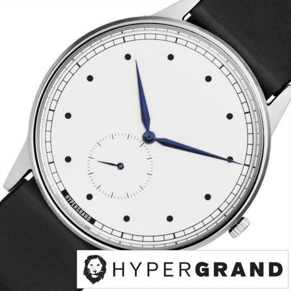 ハイパーグランド腕時計 HYPER GRAND 腕時計 ハイパー グランド 時計 シグネチャー クラシックレザー メンズ/レディース/ユニセックス/ホワイト CWSGSWBLK [カジュアル ファッション オシャレ  おすすめ オススメ シンガポール 替えベルト時計][プレゼント・ギフト][新生活]